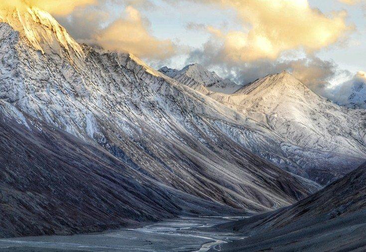 Las montañas en el norte