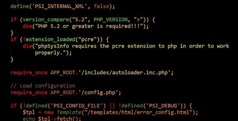 características de php