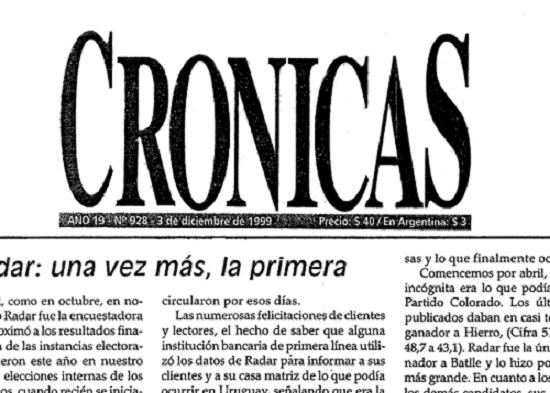 características de Crónica
