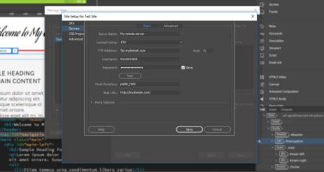 características de Dreamweaver